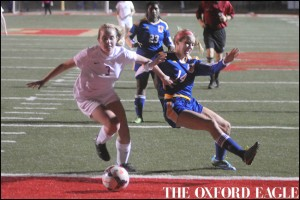 Oxford High vs. Lafayette High in girls soccer action at William L. Buford Stadium in Oxford, Miss., on Tuesday, December 8, 2015. Lafayette High won 3-2.