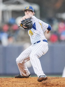One of junior right-hander Houston Roth's eight wins came in the Chargers' 3-1 victory over New Hope back on March 27. (Bruce Newman)