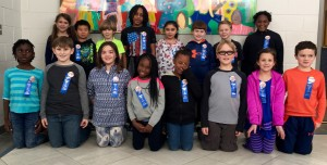 Della Davidson Elementary Shining Stars in third grade are front, from left, Zoe Metcalf, Sam Bain, Kate Tschumper, Ma'Layjah Certion, Tekerah Townes, Carter Kirk, Alice Williamson, Reed Ussery and back, from left, Ellie Hampton, Shimba Nagaoka, Larkin Dowling, Cameron Wilder, Syna Gandhi, Cayden Ferriss, Will Nordstrom, and Kamayia Tallie.