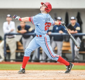 Ole Miss catcher Henri Lartigue was drafted by the Philadelphia Phillies in the seventh round. (Bruce Newman)