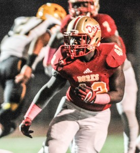 Middle linebacker Tay Reed (42) is back to anchor Lafayette's new 4-3 scheme after racking up 96 tackles last season. (Bruce Newman)