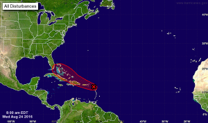 Invest 99L could become Tropical Storm or Hurricane Hermine. Florida and the Gulf Coast is in the storm's path according to the latest forecast.