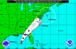 Tropical Storm Hermine 2016 is on a path to Florida for a Friday strike.