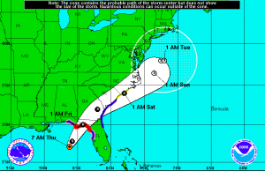 Hermine is expected to strike Florida overnight tonight as Hurricane Hermine 2016, a category 1 storm.
