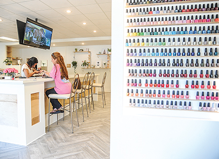Bruce Newman The Nail Bar recently opened near the Square.