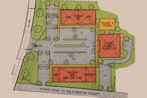 A schematic from architect Cory Alger on the proposed Lafayette County Office Park was presented to the county Board of Supervisors on Monday.