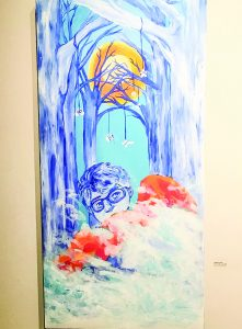 """Jemma Lizotte's artwork, titled """"If the Trees Could Talk,"""" is on display at the Ogden Museum of Southern Art."""